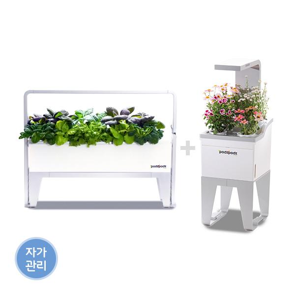 [파쯔파쯔] 가정용 LED 식물재배기 더블 패키지 (미니+베이직)