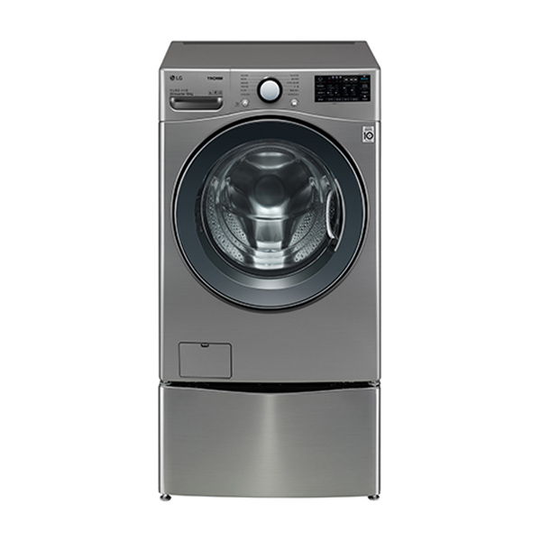 [LG] 트롬 트윈워시 드럼세탁기 18KG 모던스테인리스