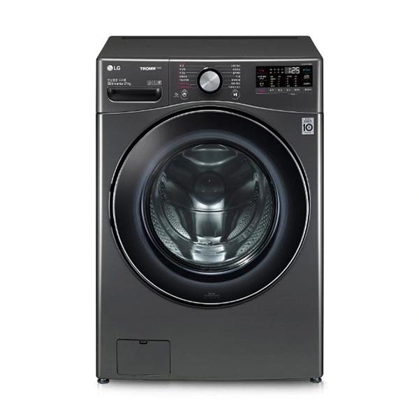[LG] 트롬 ThinQ 드럼세탁기 블랙스테인리스 21kg