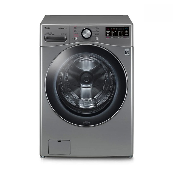 [LG] 트롬 ThinQ 드럼세탁기 모던스테인리스 24kg