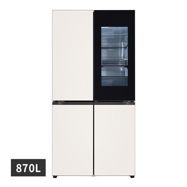 [LG] 디오스 노크온 오브제컬렉션 양문형냉장고 베이지베이지 870L