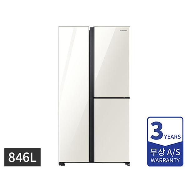 [삼성] 양문형 냉장고 3도어 846L 클린화이트